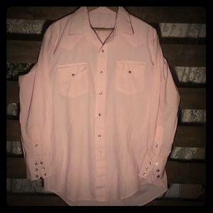 Vintage Pink Cowboy Button down